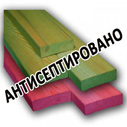 Доска обрезная 25х150x6000 мм 1-3 сорт (хвоя) антисептированная