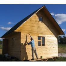 Обработка стен в деревянном доме антисептиком