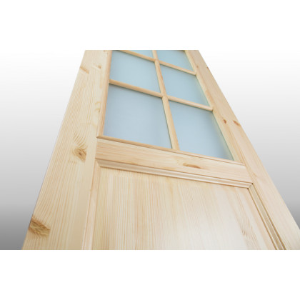 Дверь М12 в комплекте , стекло, лак   40х800х2000