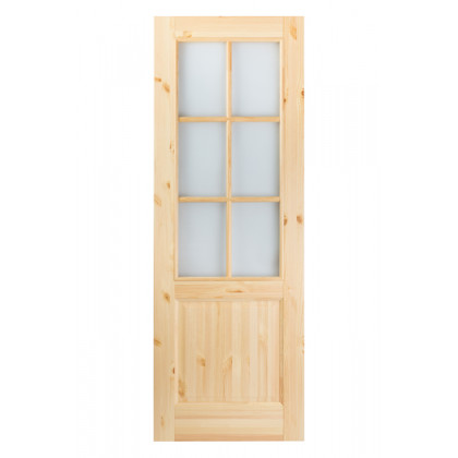 Дверь М12 в комплекте , стекло, лак  40х700х2000
