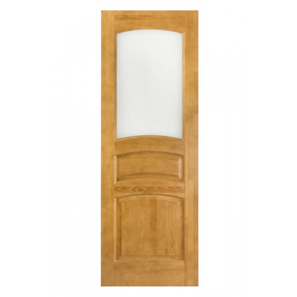 Дверь М9 в комплекте, стекло, лак орех   40х900х2000