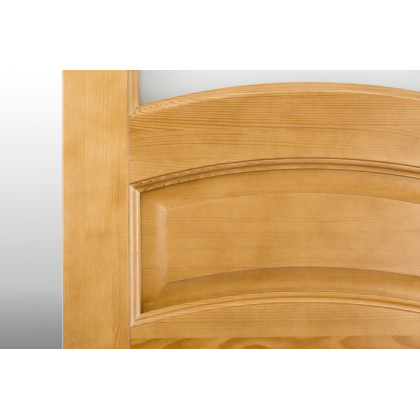 Дверь М9 в комплекте, стекло, лак орех  40х700х2000