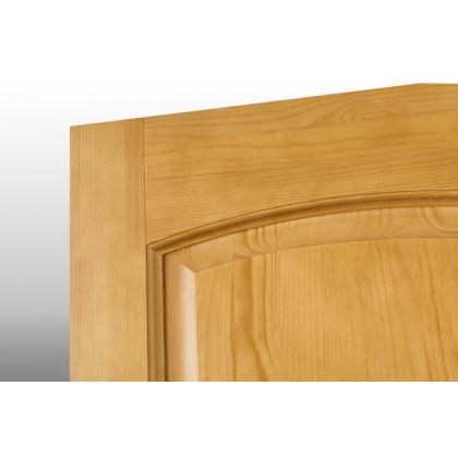 Дверь М9 в комплекте, глухая, лак орех  40х700х2000