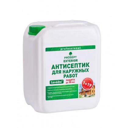 PROSEPT EXTERIOR - для наружных работ  концентрат 1:19. 5 литров