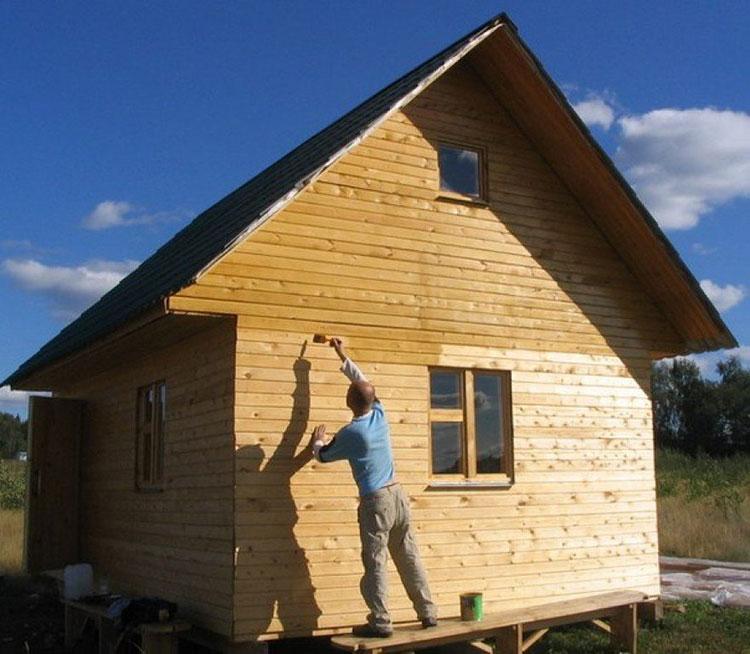 обработка стен снаружи дома