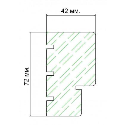 Дверь для сауны 213M (коробка осина,стекло б/ц матовое) 690*1892