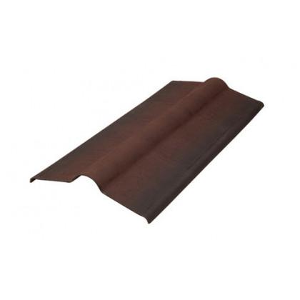 Конек элемент коричневый SMART/Черепица (Onduline) 1х0,5 м.