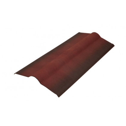 Конек элемент красный SMART/Черепица (Onduline) 1х0,5 м.