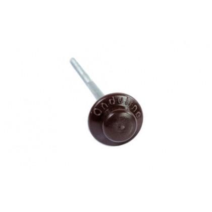 Гвозди Ондулин с литой шляпкой коричневые (100 шт.)