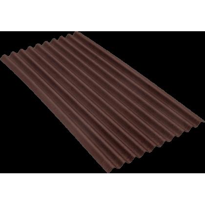 Ондулин SMART коричневый (Onduline) лист 1,95х0,95 м.