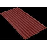Ондулин SMART красный (Onduline) лист 1,95х0,95 м.