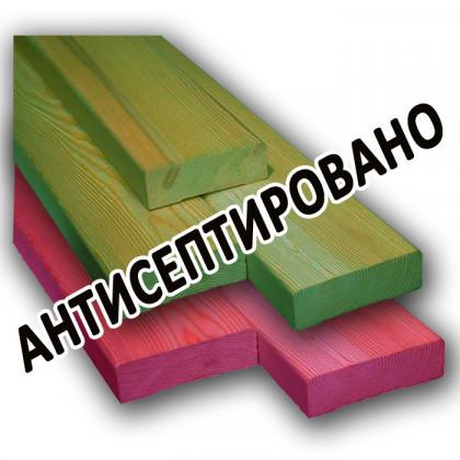 Брус 200x200x6000 мм 1-3 сорт (хвоя) антисептированный