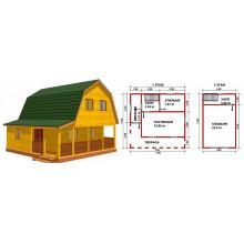 Оптимальные размеры домов из бруса