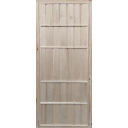 Дверь для бани (глухая, осиновая вагонка) 700 х 1800 (с коробкой)
