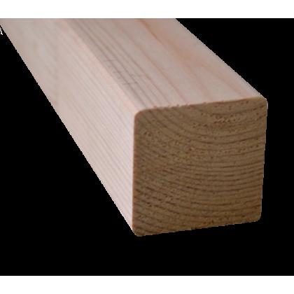 Брус сухой строганый 80х80 L= 6,0 (хвоя) с завальцовкой