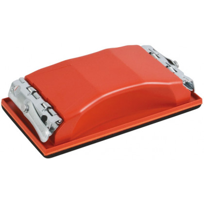 Держалка д/нажд.бум. пластиковая с мет.прижимом, красная 210х105 мм