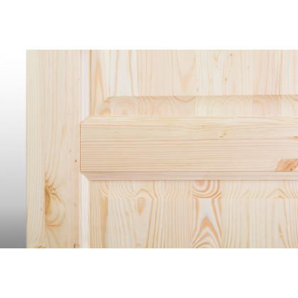 Дверное полотно М12 глухое, лак 40х600х2000