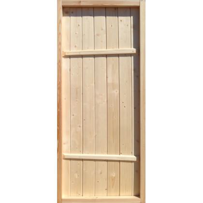 Дверь банная (хвоя), с коробкой 770*1770