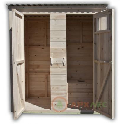 Дачный туалет с хозблоком