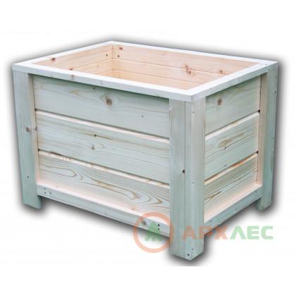 Кашпо деревянное 480х480х680 (в/г/ш)