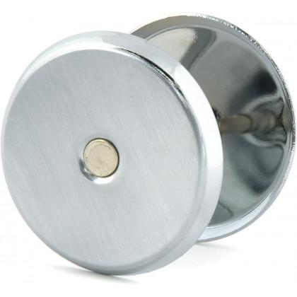 Ключевина (заглушка) для замка  глухая хром