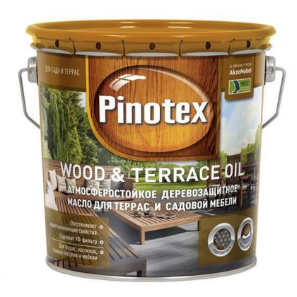 Масло для терасс Pinotex Wood&Terrace Oil бесцветное 2.7 л