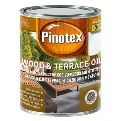 Масло для терасс Pinotex Wood&Terrace Oil бесцветное 1 л