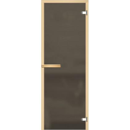 Дверь для сауны 214М (коробка осина,стекло серое матовое) 690*1890 (ПОД ЗАКАЗ)
