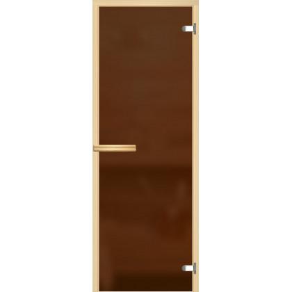 Дверь для сауны 225M (коробка осина,стекло бронза матовое) 690*1890