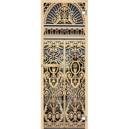 Дверь для сауны А029 (коробка липа,стекло прозрачное) 690*1893
