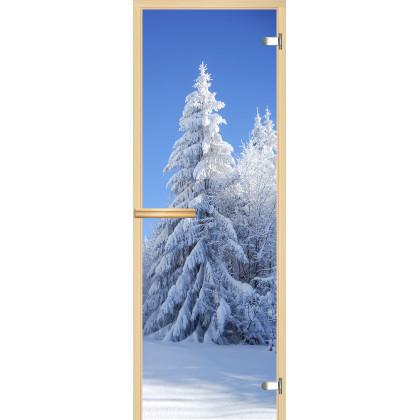 Дверь для сауны А079 (коробка липа,стекло прозрачное) 690*1896