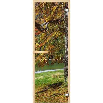 Дверь для сауны А089 (коробка липа,стекло прозрачное) 690*1902