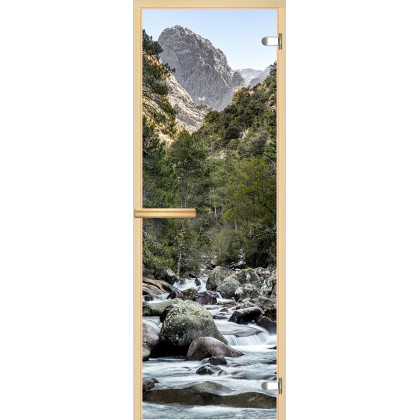 Дверь для сауны А094 (коробка липа,стекло прозрачное) 690*1904