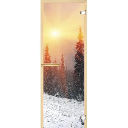 Дверь для сауны А099 (коробка липа,стекло прозрачное) 690*1898