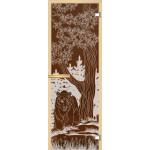 """Дверь для сауны """"Медведь"""" (коробка липа,стекло бронза) 690*1899"""