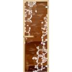"""Дверь для сауны """"Ручей"""" (коробка липа,стекло бронза) 690*1894"""