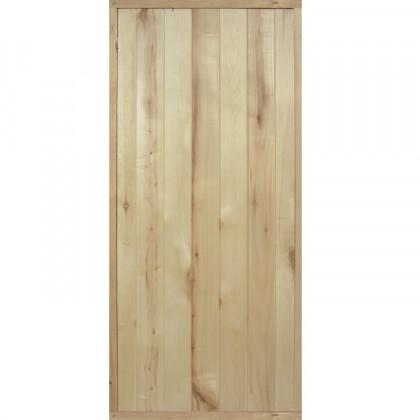 Дверь банная (осина), с сучками, с коробкой 770*1770