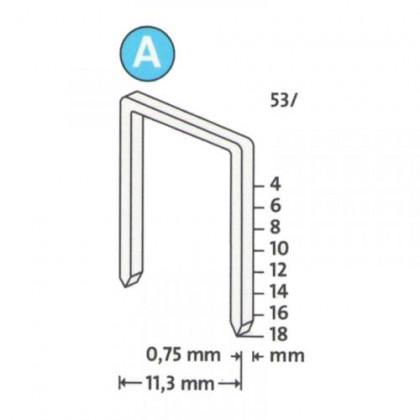 Скобы для степлера 8 мм тип 53  (1000 шт./уп.)