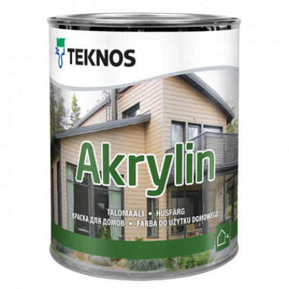 Текнос AKRYLIN краска для деревянных фасадов 0,9 л.