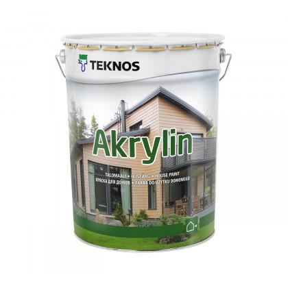 Текнос AKRYLIN краска для деревянных фасадов 18 л.