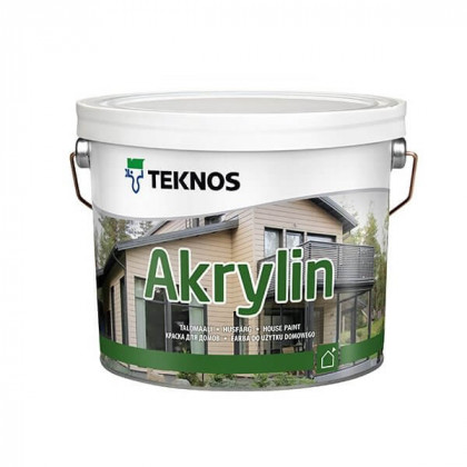 Текнос AKRYLIN краска для деревянных фасадов 2,7 л.