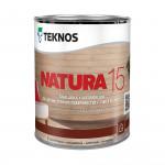 Текнос NATURA 15 мат. водный лак для внутренних работ 0,9 л.