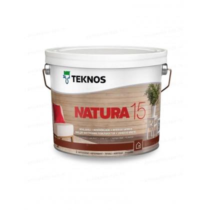 Текнос NATURA 15 мат. водный лак для внутренних работ 2,7 л.