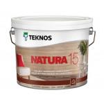 Текнос NATURA 15 мат. водный лак для внутренних работ 9 л.