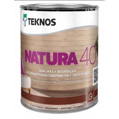 Текнос NATURA 40 п/гл. водный лак для внутренних работ 0,9 л.