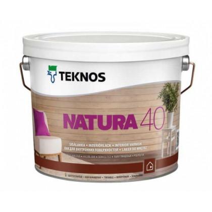 Текнос NATURA 40 п/гл. водный лак для внутренних работ 9 л.