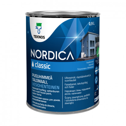 Текнос NORDICA CLASSIC п/мат.  краска для деревянных фасадов 0,9 л.