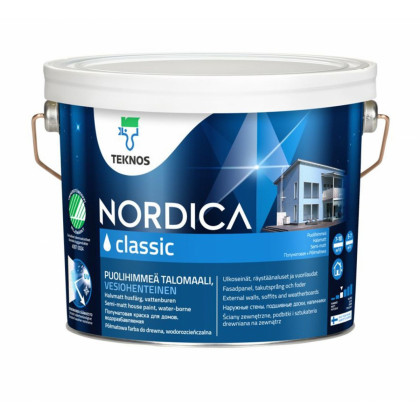 Текнос NORDICA CLASSIC п/мат.  краска для деревянных фасадов 2,7 л.