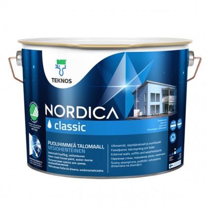 Текнос NORDICA CLASSIC п/мат.  краска для деревянных фасадов 9 л.
