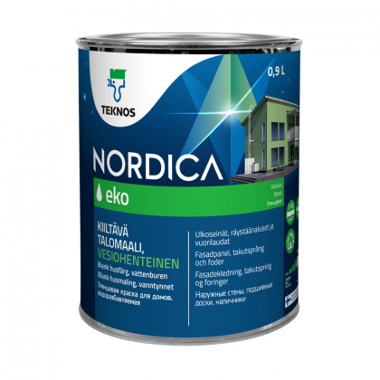 Текнос NORDICA EKO глянцевая краска для деревянных фасадов 0,9 л.